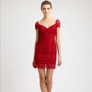 e97f7363687 Nicole Miller Dresses - Nicole Miller Red Lace Dress